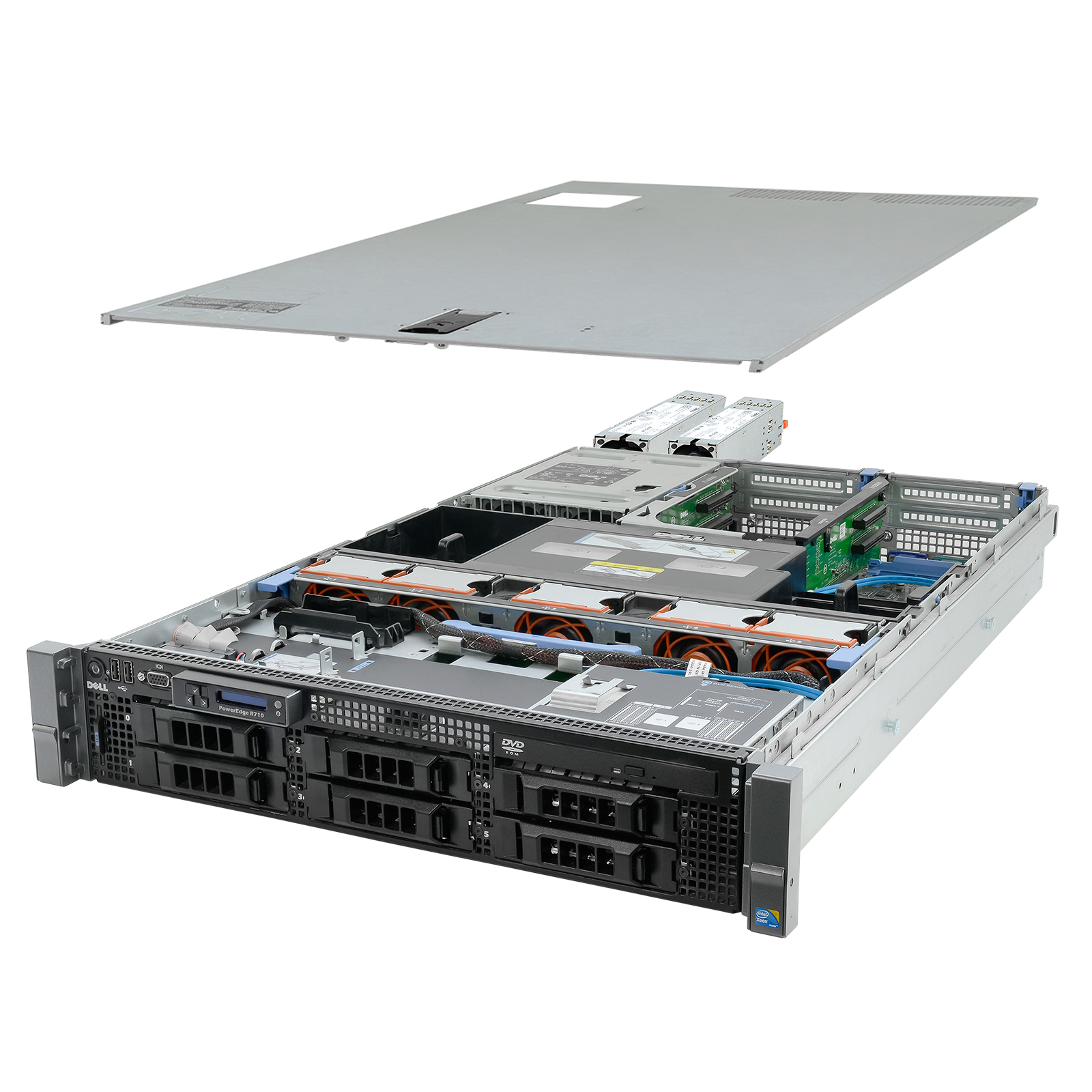 Details about High-End Virtualization Server 12-Core 144GB RAM 12TB RAID  Dell PowerEdge R710
