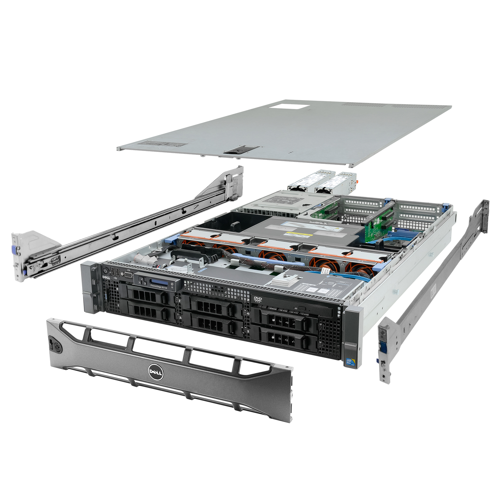 Details about High-End Virtualization Server 12-Core 128GB RAM 12TB RAID  Dell PowerEdge R710