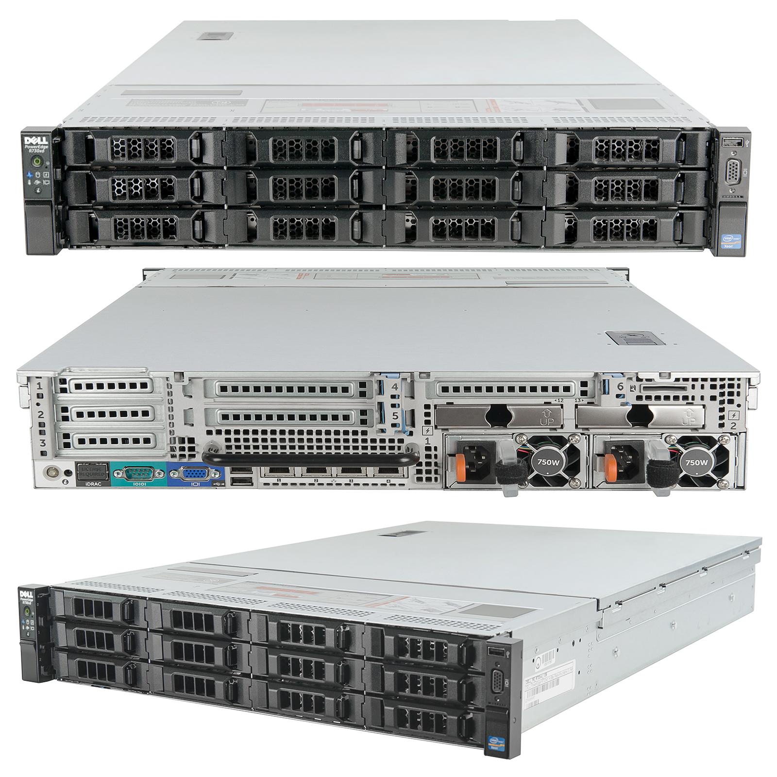 Details about Dell PowerEdge R730xd Server 2x 2 50Ghz E5-2680v3 12C 96GB  1 0TB SSD + 72TB